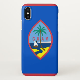 Glossy iPhone Case with Flag of Guam, USA
