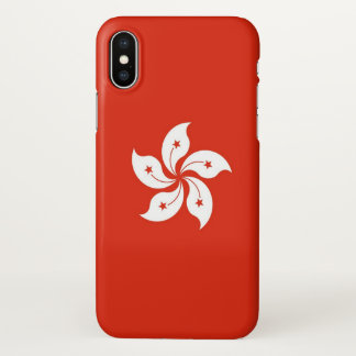 Glossy iPhone Case with Flag of Hong Kong