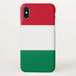Glossy iPhone Case with Flag of Hungary