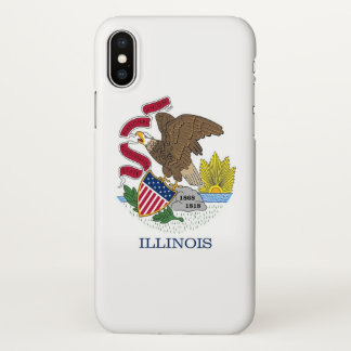 Glossy iPhone Case with Flag of Illinois, USA