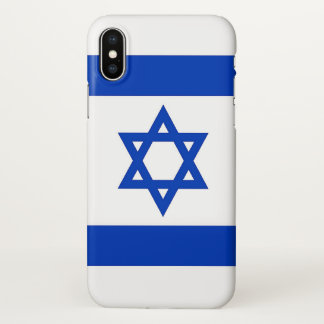 Glossy iPhone Case with Flag of Israel