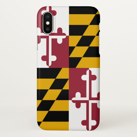 Glossy iPhone Case with Flag of Maryland, USA