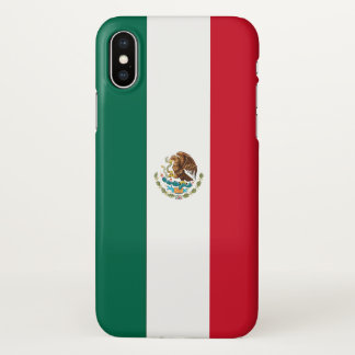 Glossy iPhone Case with Flag of Mexico