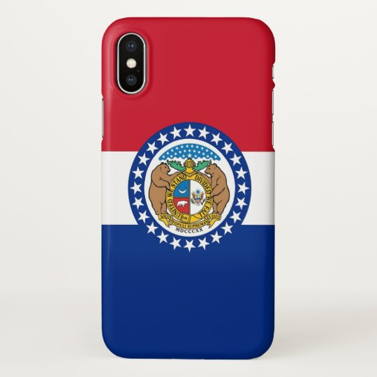 Glossy iPhone Case with Flag of Missouri, USA