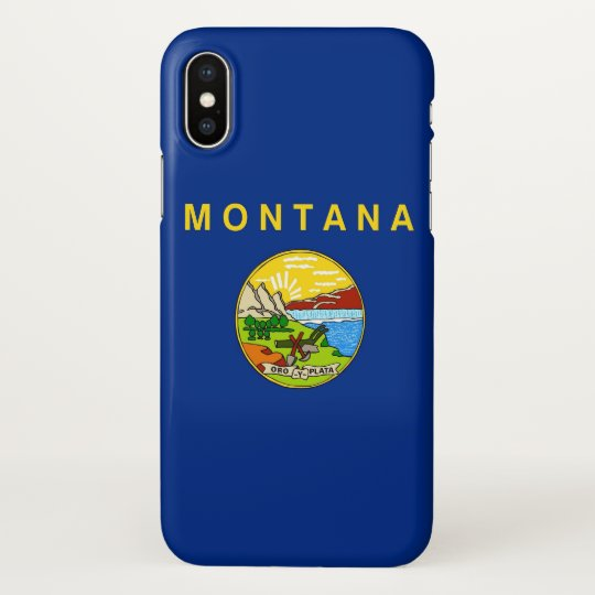 Glossy iPhone Case with Flag of Montana, USA