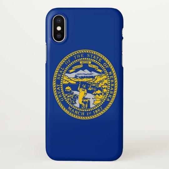 Glossy iPhone Case with Flag of Nebraska, USA