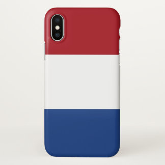 Glossy iPhone Case with Flag of Netherlands
