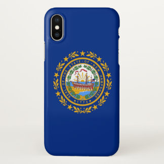 Glossy iPhone Case with Flag of New Hampshire, USA