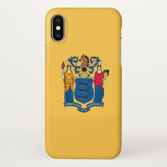 Glossy iPhone Case with Flag of New Jersey, USA