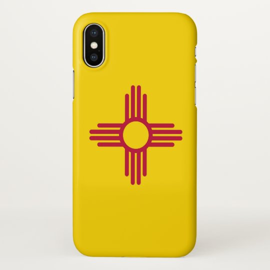 Glossy iPhone Case with Flag of New Mexico, USA