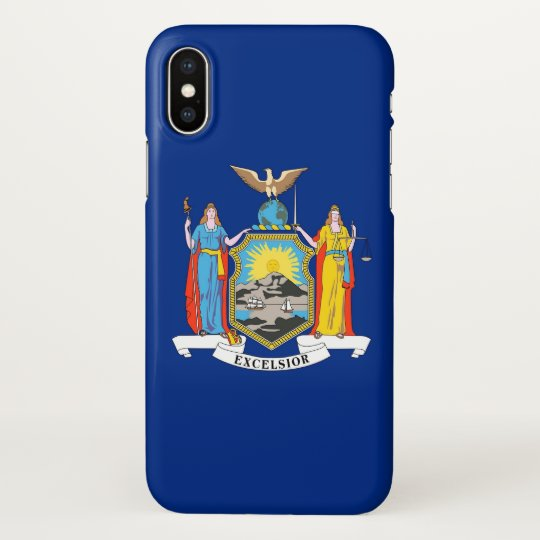 Glossy iPhone Case with Flag of New York, USA