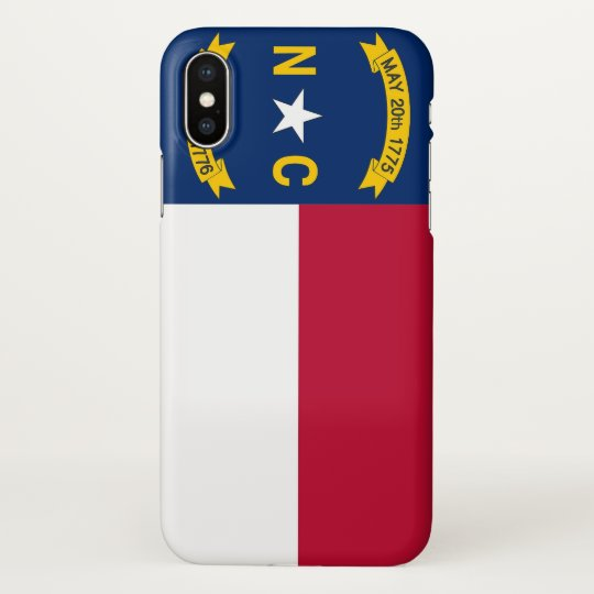 Glossy iPhone Case with Flag of North Carolina