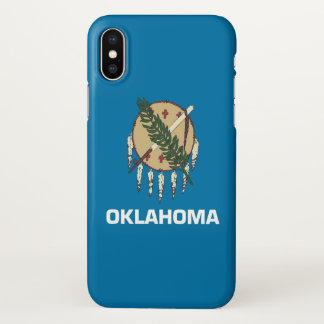 Glossy iPhone Case with Flag of Oklahoma
