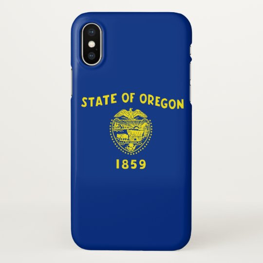 Glossy iPhone Case with Flag of Oregon