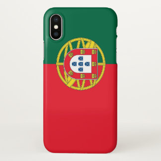 Glossy iPhone Case with Flag of Portugal