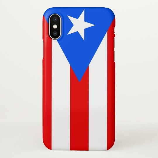 Glossy iPhone Case with Flag of Puerto Rico