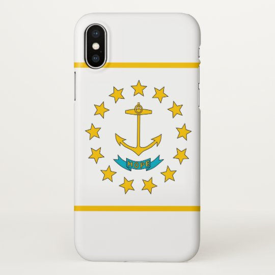 Glossy iPhone Case with Flag of Rhode Island
