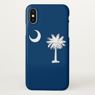 Glossy iPhone Case with Flag of South Carolina