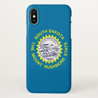 Glossy iPhone Case with Flag of South Dakota