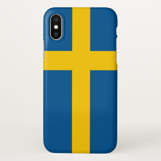 Glossy iPhone Case with Flag of Sweden