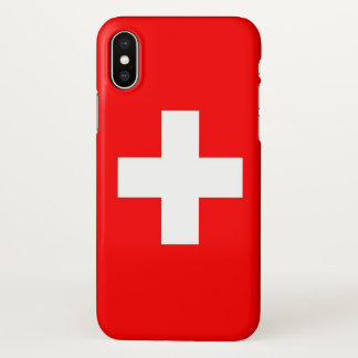 Glossy iPhone Case with Flag of Switzerland