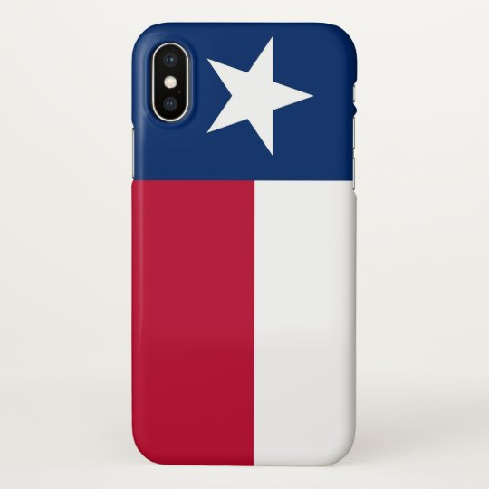 Glossy iPhone Case with Flag of Texas State