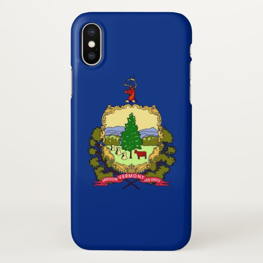 Glossy iPhone Case with Flag of Vermont State