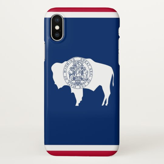 Glossy iPhone Case with Flag of Wyoming