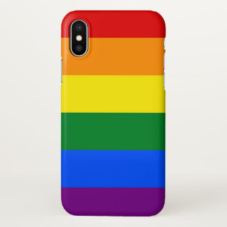 Glossy iPhone Case with  LGBT Pride Flag