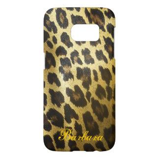Glossy Leopard Fur Print Samsung Galaxy S7 Case