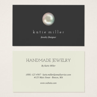 Glossy Pearl | Jewelry Designer Business Card