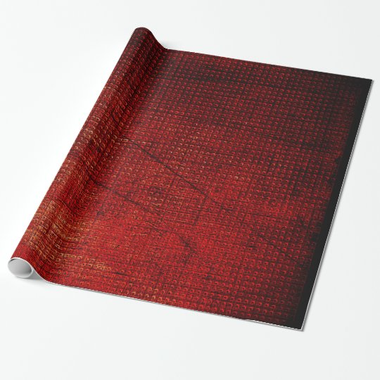 Glossy Red Metallic Old Style Wrapping Paper