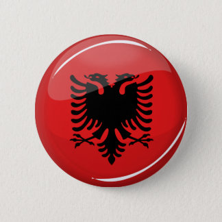 Glossy Round Albanian Flag 2 Inch Round Button