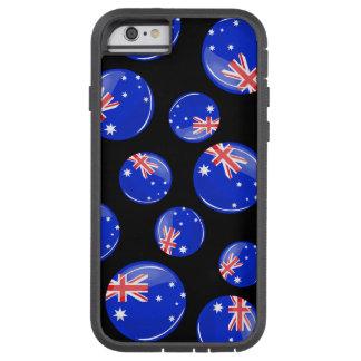 Glossy Round Australian Flag Tough Xtreme iPhone 6 Case