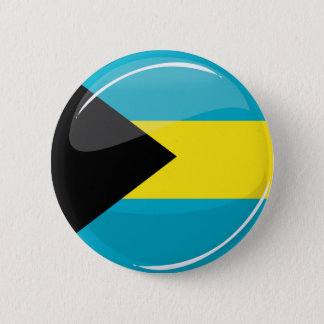 Glossy Round Bahamian Flag 2 Inch Round Button