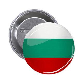Glossy Round Bulgarian Flag 2 Inch Round Button