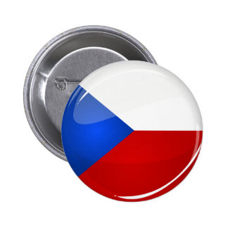 Glossy Round  Czech Rep. Flag 2 Inch Round Button