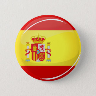 Glossy Round Flag of Spain 2 Inch Round Button
