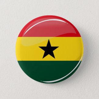 Glossy Round Ghana Flag 2 Inch Round Button