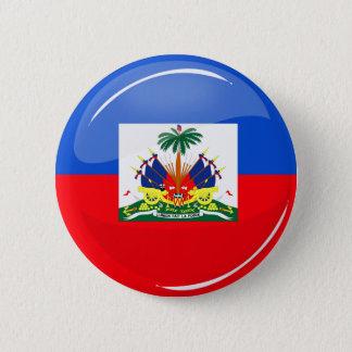 Glossy Round Haitian Flag 2 Inch Round Button