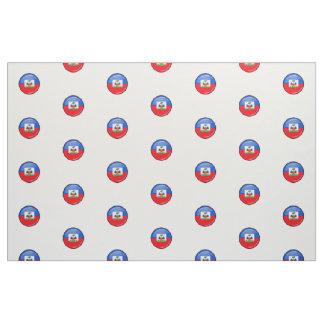 Glossy Round Haitian Flag Fabric