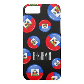 Glossy Round Haitian Flag iPhone 7 Case