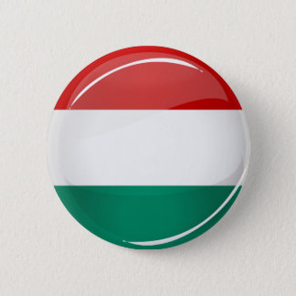 Glossy Round Hungarian Flag 2 Inch Round Button
