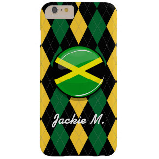 Glossy Round Jamaican Flag Barely There iPhone 6 Plus Case