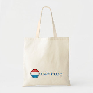 Glossy Round Luxembourg Flag