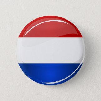 Glossy Round Netherlands Flag 2 Inch Round Button