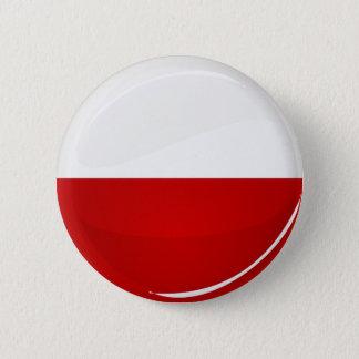 Glossy Round Polish Flag 2 Inch Round Button