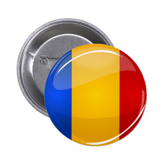 Glossy Round Romanian Flag 2 Inch Round Button