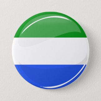 Glossy Round Sierra Leone Flag 3 Inch Round Button