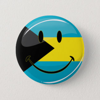Glossy Round Smiling Bahamain Flag 2 Inch Round Button
